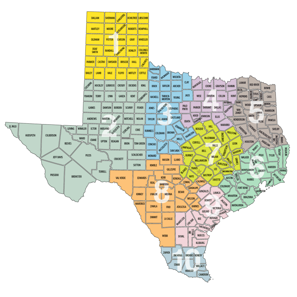 Texas Region Map