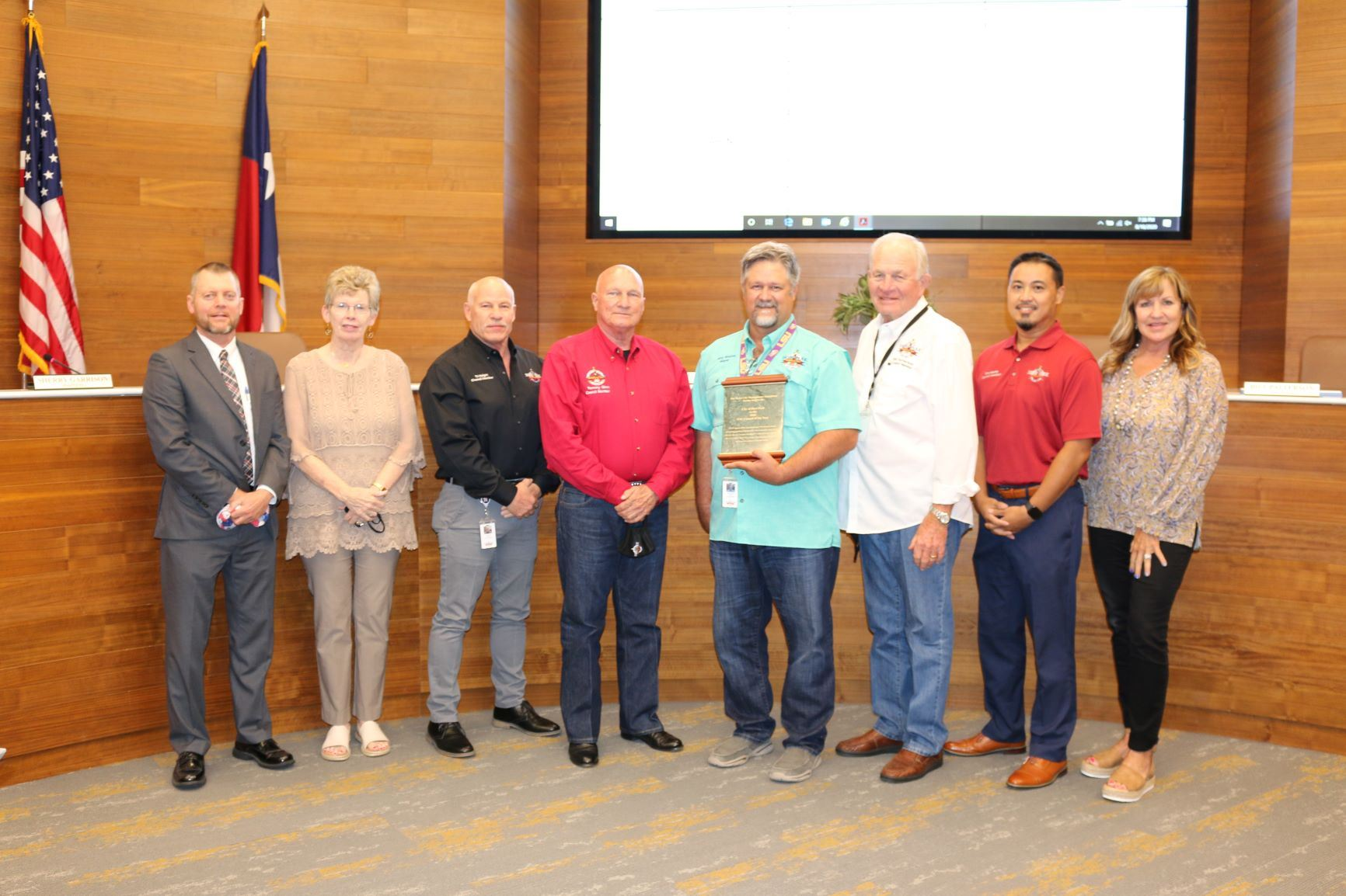 Deer Park City Council award presentation